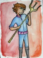 Finnick and his trident by Applenoob45