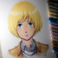 Armin Arlert - Copic Marker Drawing by LethalChris