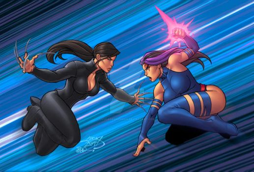 Psylocke V Deathstrike colors by LucasAckerman