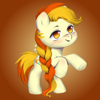 Chibi Little Flame by vitalsparkle
