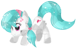 Cotton Heart Crystal Pony by Posey-11