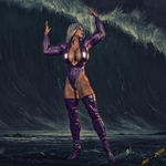 Ms. Blitzen  Calling The Wave by Lady-Quantum by Knight3000