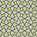 Geometric Pattern: Square Twist: Grey