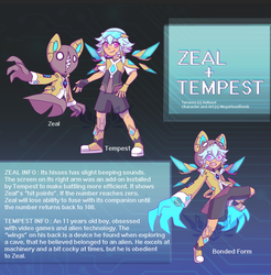 Teruvoo RefSheet: Zeal and Tempest by MegaHeadBomb