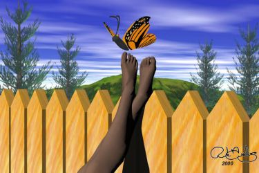 Kenya With Butterfly by RJDiogenes