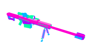 Barrett M95 (50.Cal) Colored by Pow3rade