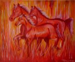 Red Horses by art1st1cDes1gn