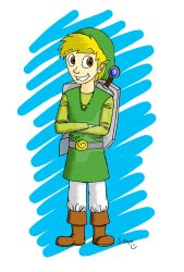 Link from Phantom Hourglass by Skully-Keys