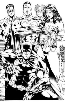 Justice League by Inker-guy