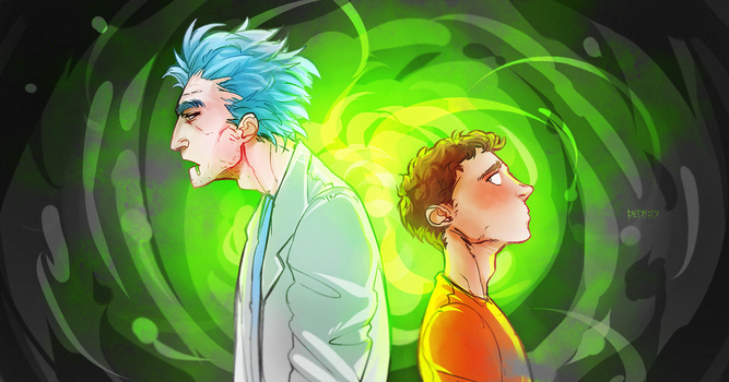Rick and Morty by RiedMoody