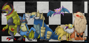Pokemon Black 2 Team by Watertrack