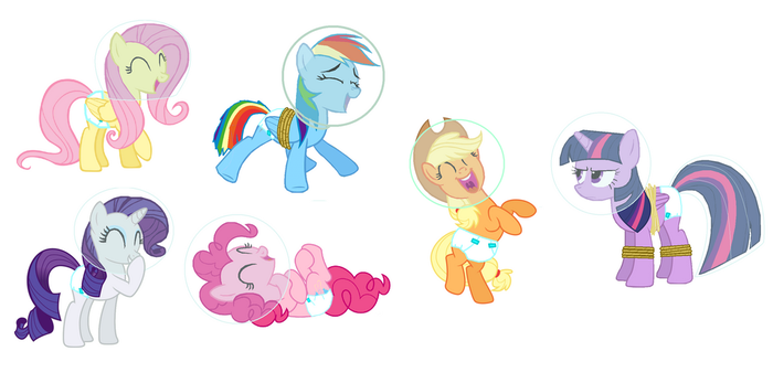 Space Diapered Ponies by GuiherCharly