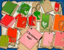 Christmas tags by roula33