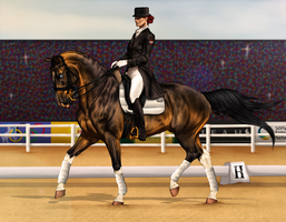 ~AUSE Qualifier One - 3DE Dressage~ by CalyArt
