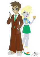 Equestria Girls: Doctor Whooves and Assistant by Reg-D-Fanfiction