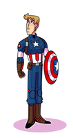 MCU - Captain America Doodle by Wolfheart343