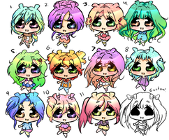 Bunnies:adopts by bunnylover11