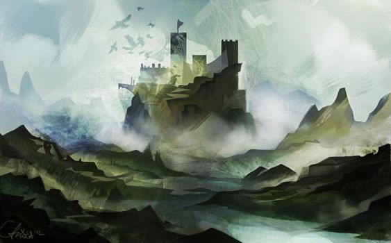 raven castle by schuhoku