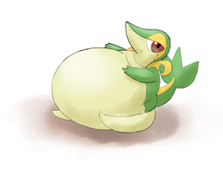 Fat Snivy by Alvro