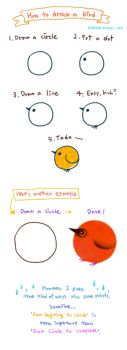 How to draw a bird by pikaole