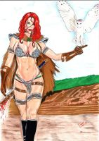Red Sonja by Franklima