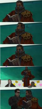 Auron is telling his story by Dante-564