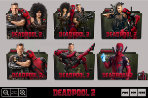 Deadpool 2 (2018) Folder Icon Pack by Bl4CKSL4YER