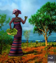 Aja-Goddess of Africian Herbs by TheSorceressRaven