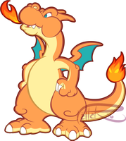 PM charizard by MrsDrPepper