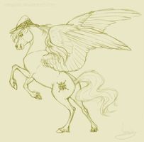 Realistic Daring Do - Sketch by VanyCat