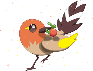 Shiny Fletchling by Willow-Pendragon