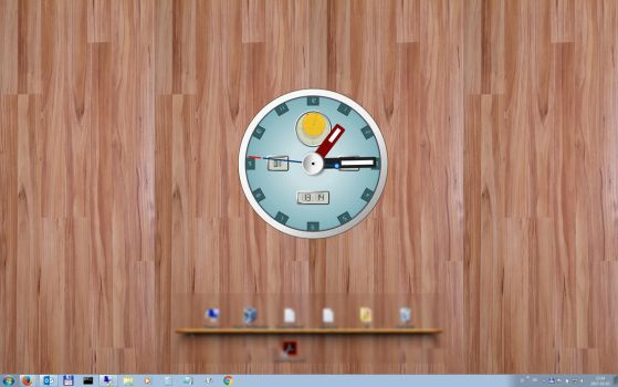 Time and date on rainmeter deviantart hiphopium 41 33 analogue clock by ikarus1969 gumiabroncs Image collections