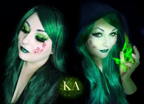 Necromancer Makeup w/ Tutorial by KatieAlves