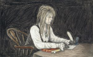 Jareth writing a letter by gagambo