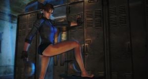 Resident evil wallpaper - Jill Valentine B.S.A.A. by ethaclane