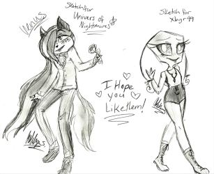 Free Sketches Venus and an Irken OC by Shleet338