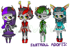 [Adopts]: Dyed Hair Fantrolls [CLOSED] by SimplyDefault