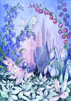 Twilight Fairy Castle by JoannaBromley