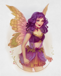 Half body Fairy Commission by andrada-art