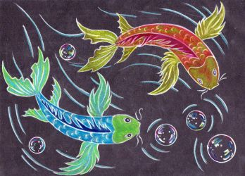 55- Koi fish drawing by Rikkimaru129