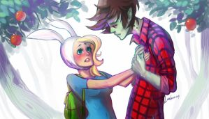 Fionna and Marshall02 by Lailamon