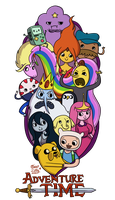 Adventure Time by MissLillyArt