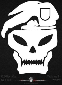 CoD Black Ops skull icon by Wicktarr