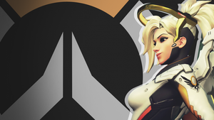 Overwatch Side Profile Wallpaper - Mercy by PT-Desu