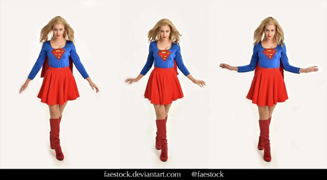 Supergirl  - Stock model reference pack 20 by faestock