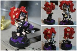 Custom Octoling Amiibo with Octoshot by PixelCollie