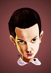 Caricature of Millie Bobby Brown by jpaolonovelli