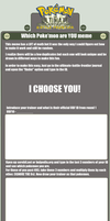 Which Pokemon are YOU template by CasFlores