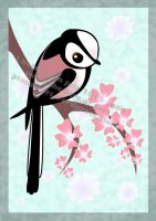 Long Tail Tit on Blossom by TheCrowling