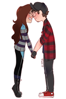 CM - Gravity Falls Sketch .:AK x Dav:. by Flasho-D